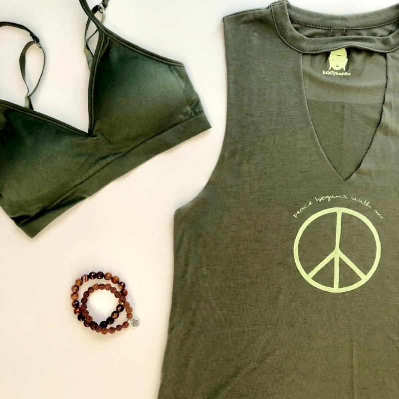 Convertible V Neck Bra ~ Olive