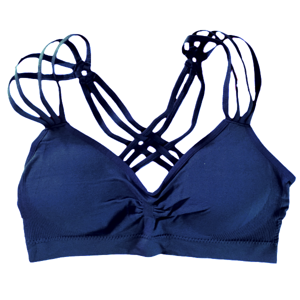 Triple Strap Bra ~ Steel Blue