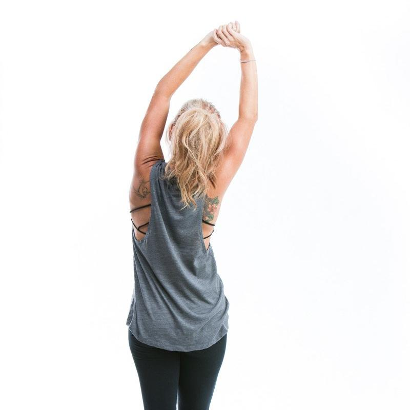 Bloom Mandala Muscle Tank ~ Asphalt