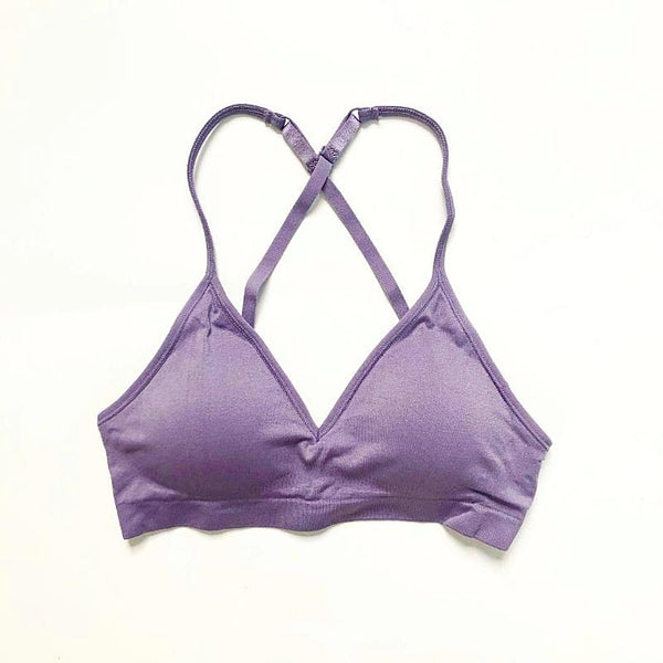 Convertible V Neck Bra ~ Purple Haze