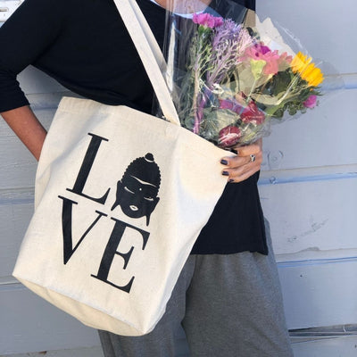 LOVE Tote and Zipper Pouch Bundle