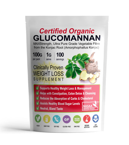 3 Packets ZERO Glucomannan Fibre (100g) - SAVE OVER 21%