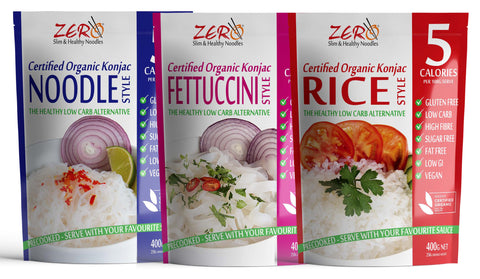 ZERO SUPER BULK BUY! 40 Noodles, 40 Fettuccine & 40 Rice & (400g) +FREE DELIVERY!