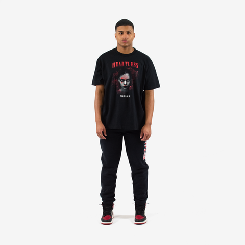 """Queen of Hearts"" S/S T-Shirt (Black)"