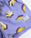 Boys blue banana print shorts