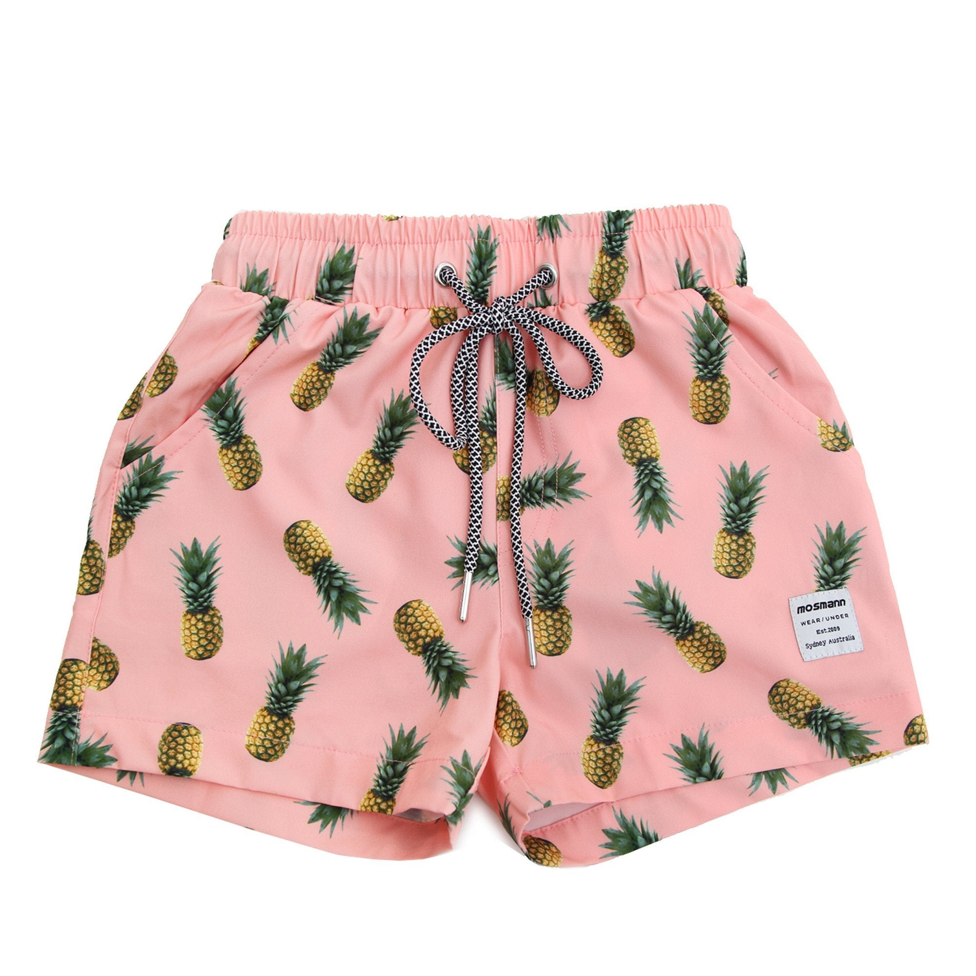 Boys pineapple printed board shorts