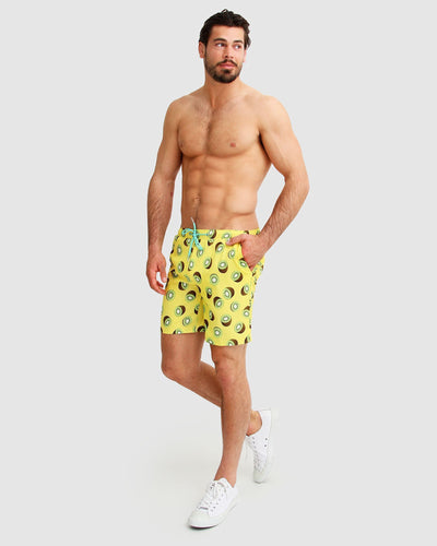 Male swim shorts with print