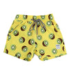 Kiwi printed yellow board shorts