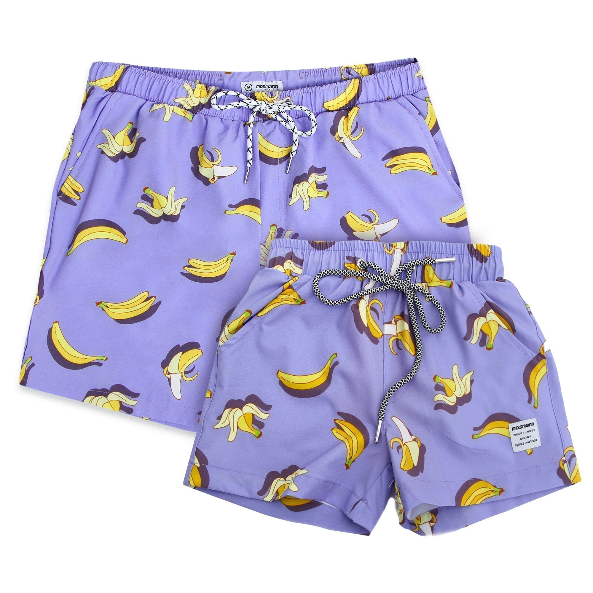 Men's and children's matching swim shorts set