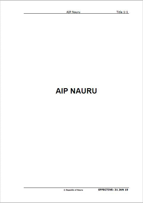 AIP Nauru - Digital Version only - Effective 26 March 2020