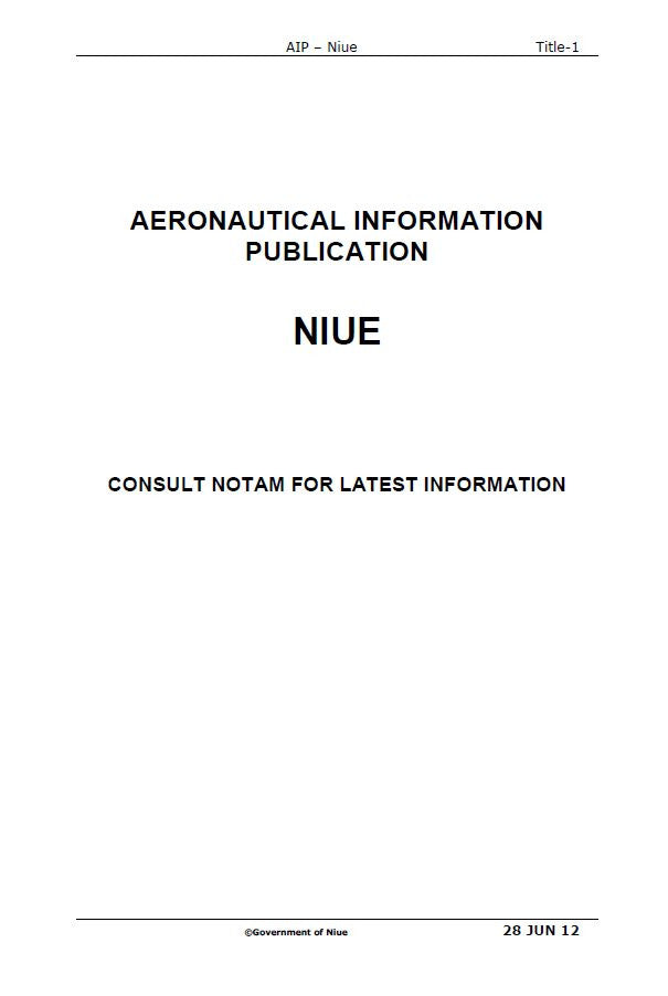 AIP Niue - Digital Version only - Effective 28 June 2012