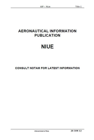 AIP Niue - Digital Version only - Effective 26 April 2018