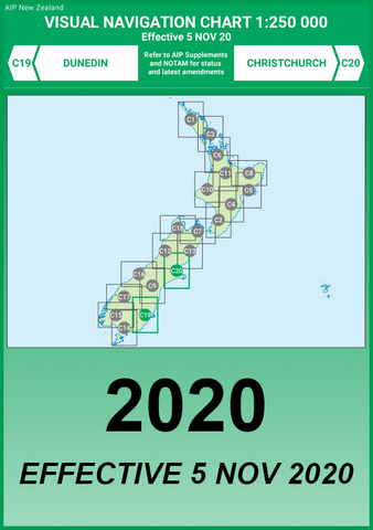 C19/C20 VNC Dunedin/Christchurch - (1:250,000) - 5 Nov 2020