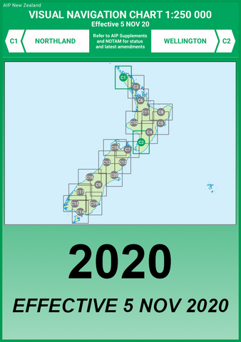 C1/C2 VNC Northland/Wellington - (1:250,000) - 5 Nov 2020