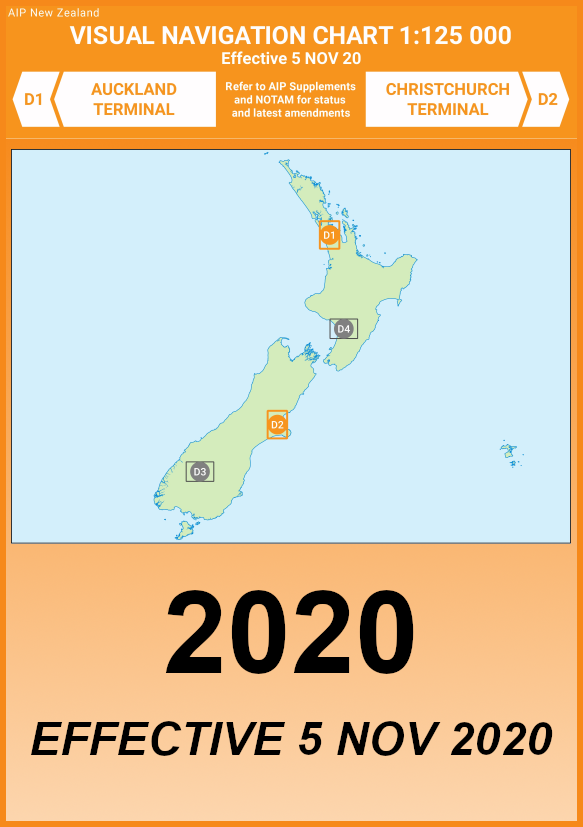 D1/D2 VNC Auckland/Christchurch - (1:125,000) - 5 Nov 2020