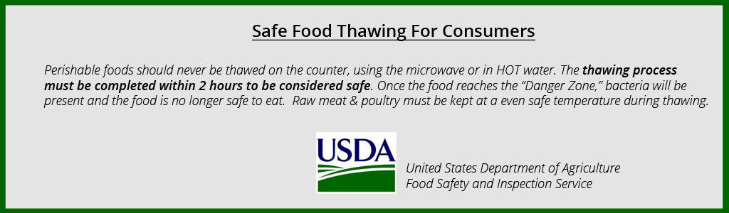 Safe Food Thawing For Consumers