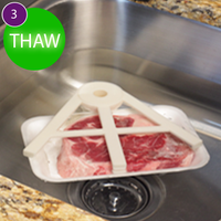 THAW CLAW - The Easy way to Thaw Meat Quickly - Thaw Claw