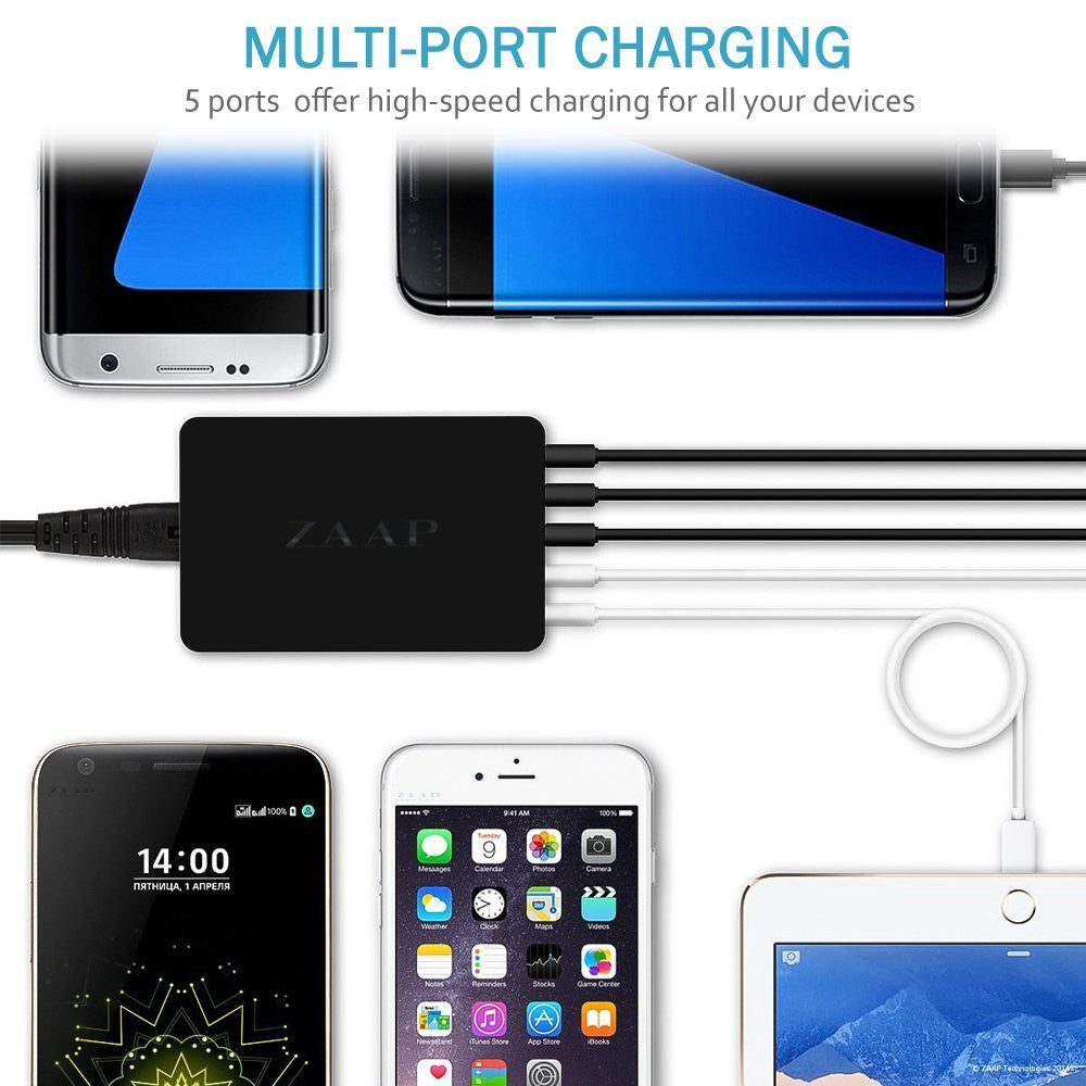 5-PORT TRAVEL WALL CHARGER
