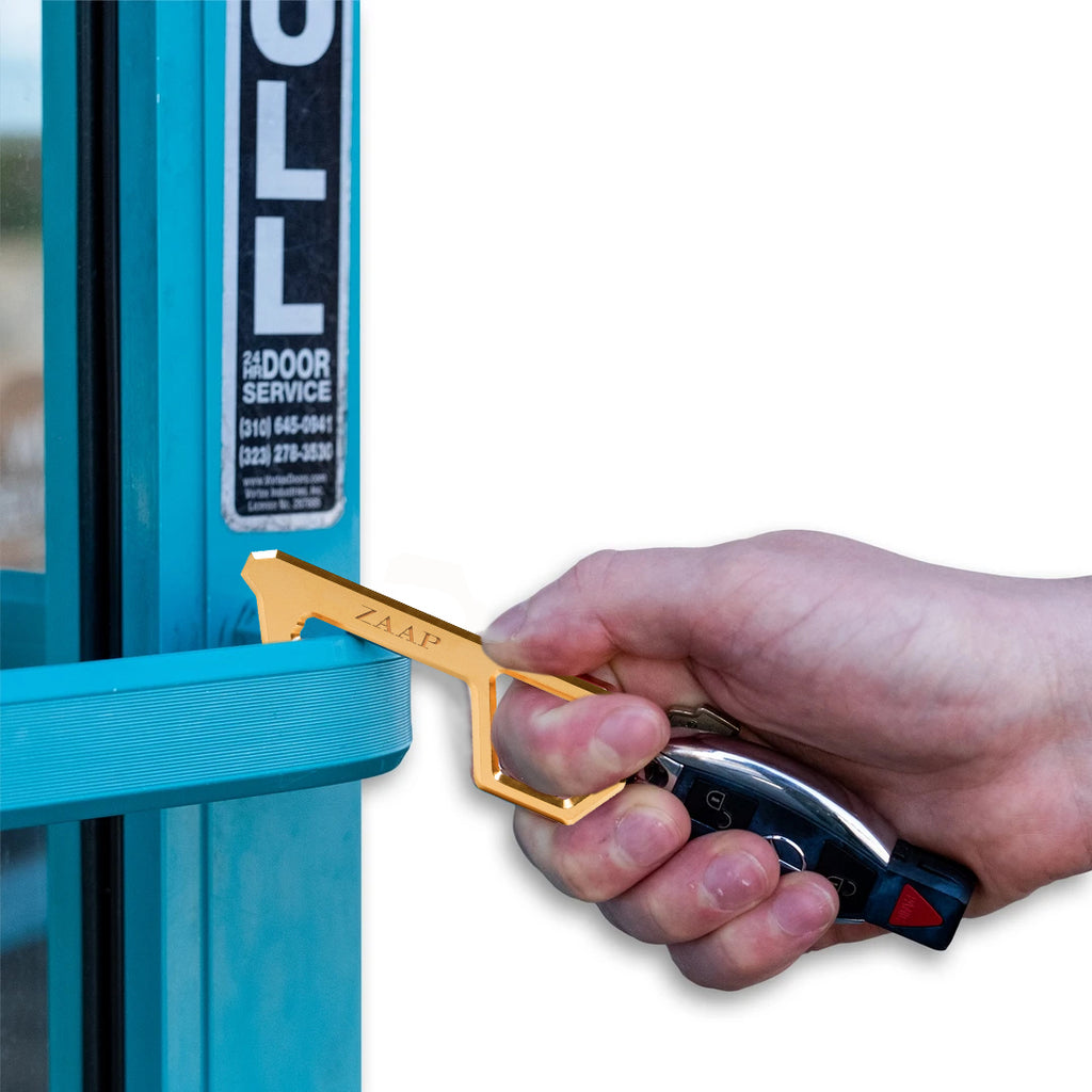 TOUCHLESS COVID SAFETY DEVICE (HAND DOOR OPENER & STYLUS, Antimicrobial Copper alloy)