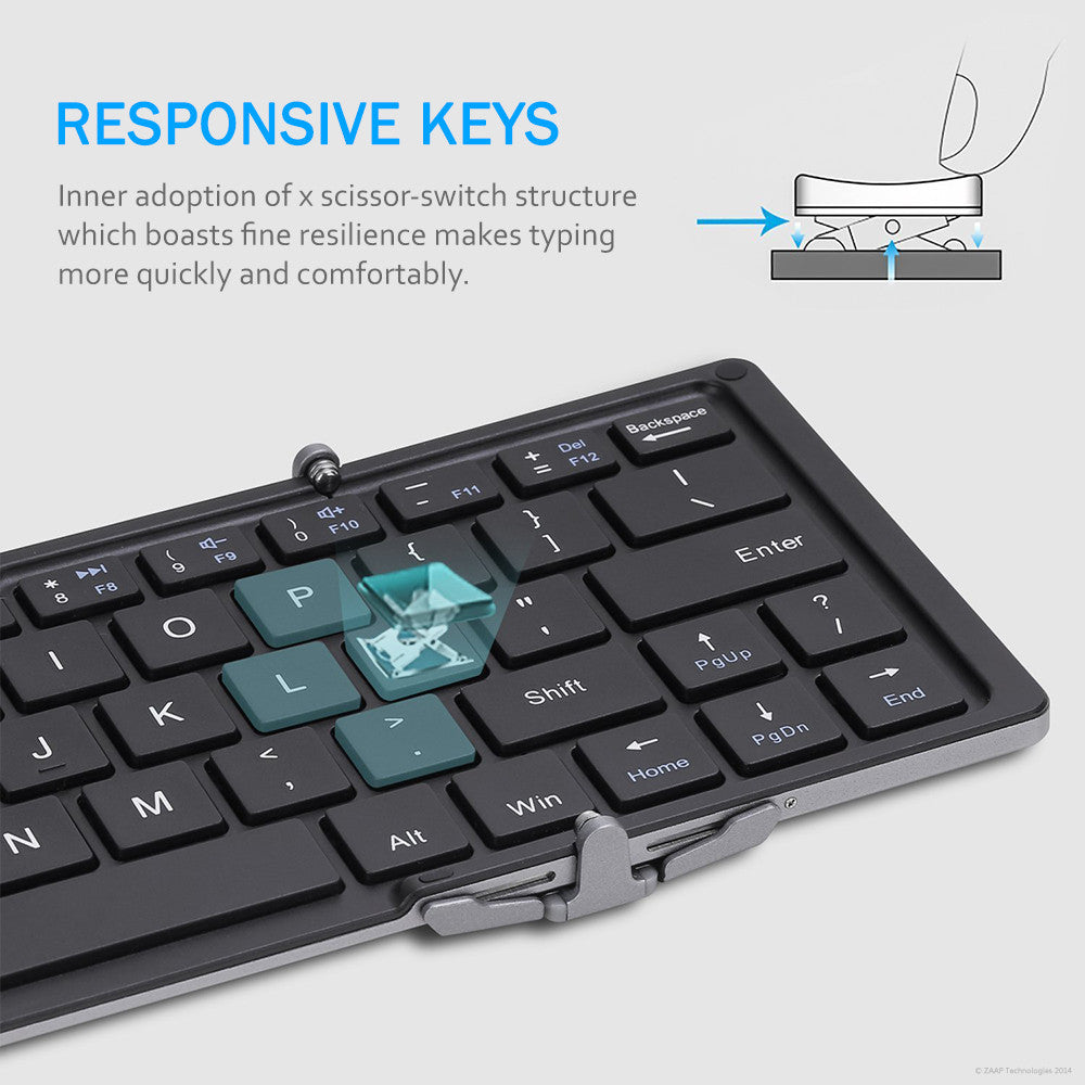 TRIFOLD PRO PORTABLE BLUETOOTH KEYBOARD