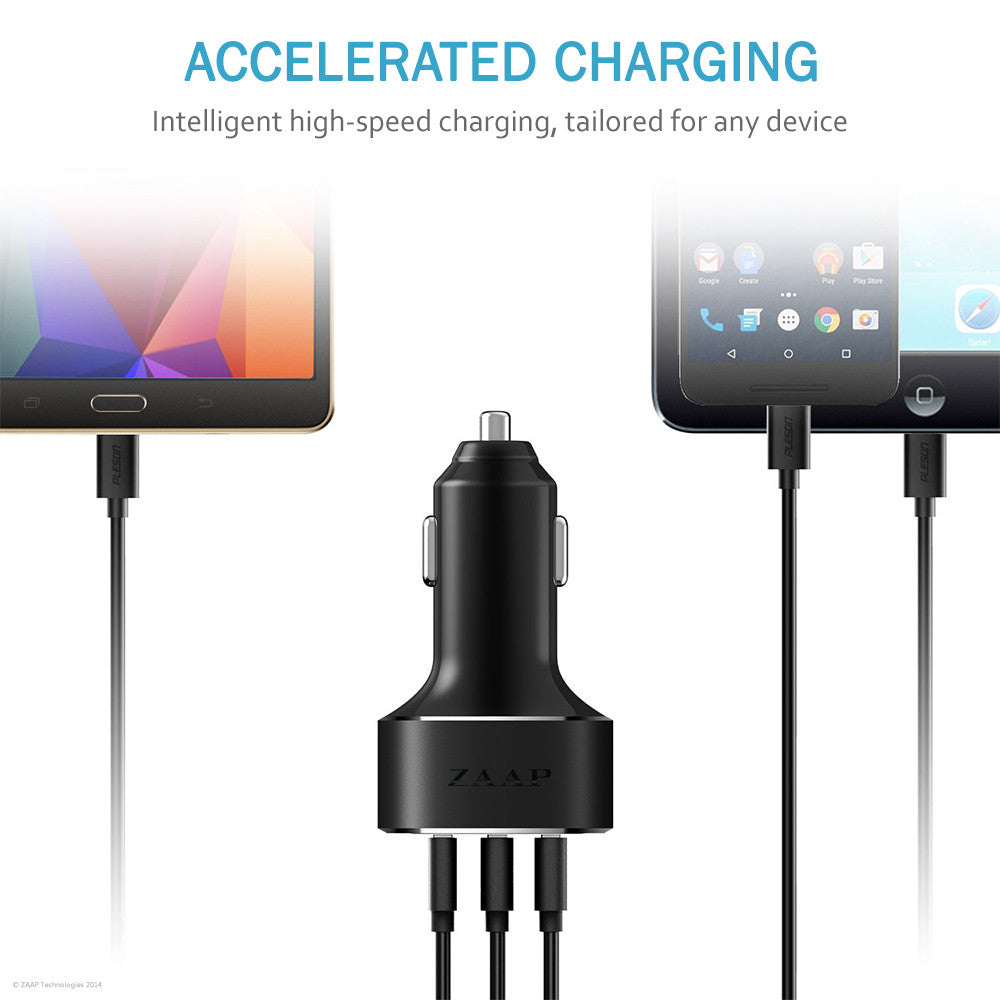 THREE PORT TURBO CAR CHARGER