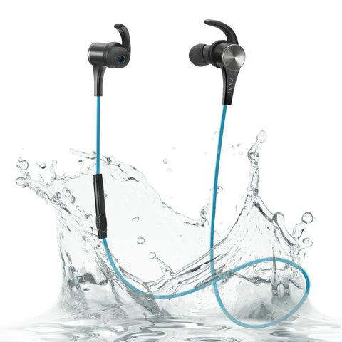 ZAAP AQUA MAGNETO Bluetooth Waterproof Headphone (Blue)