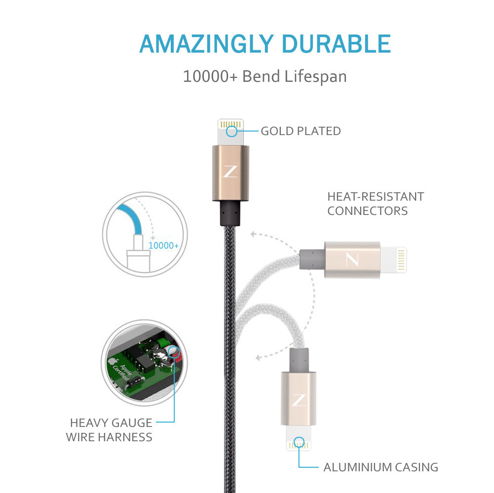 UNBREAKABLE LIGHTNING USB CABLE
