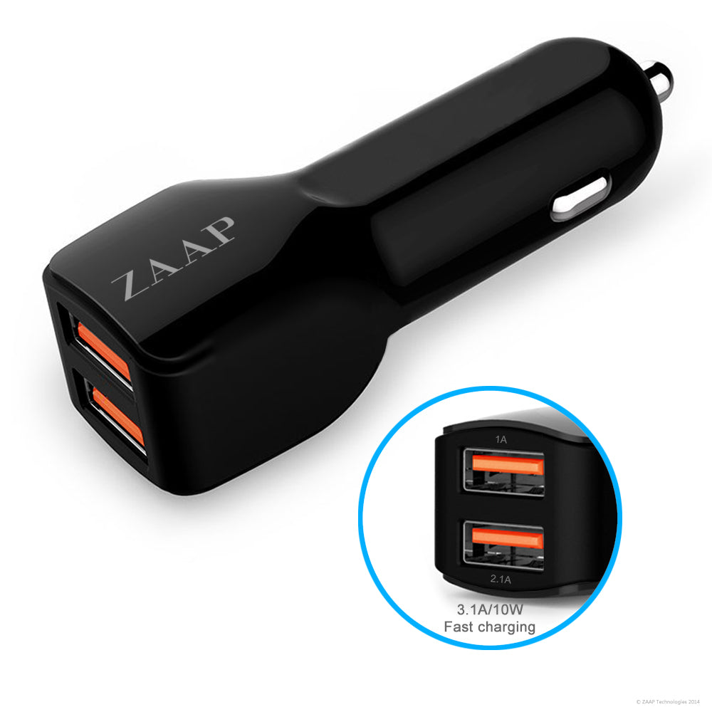 mobile charger, phone charger, android charger, samsung charger, xiomi charger, micromax charger, karbonn charger, oppo charger, mi charger, quick charger, latest charging technology, quality charger, 4 times faster, 2-port, zaap, black, capable, 80% in 30 minutes, 30W, qualcomm, charging cable 1 USB,