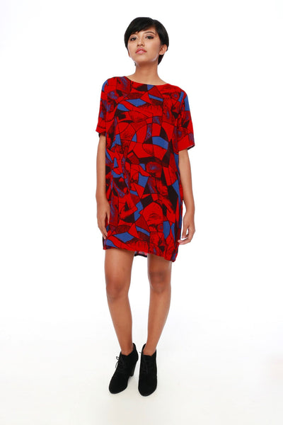 Dress - Colourful Mini Dress