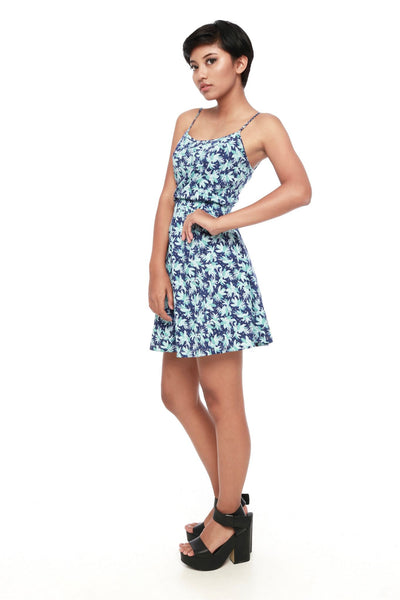 Dress - Ella Blue Floral Set