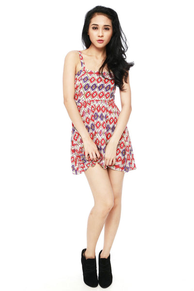 Dress - Ikat Red Dress