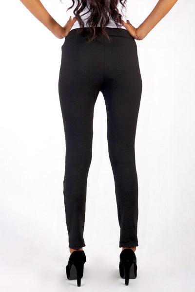 Leggings - Legging Combination Leather Glossy Knee