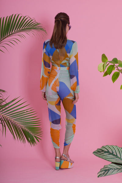 Premium Jumpsuit - Stairway To Heaven Jumpsuit - Geo Colours