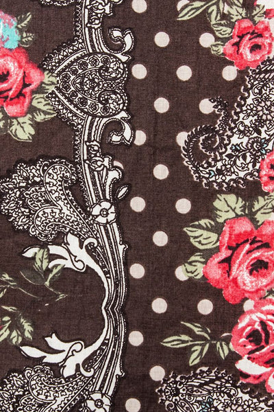 Scarf/ Hijab - Roses Rendezvous Scarf/ Hijab