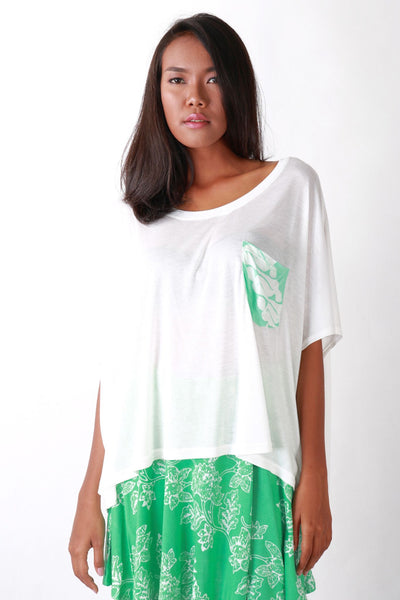 Top - All Year Tee Patch Green