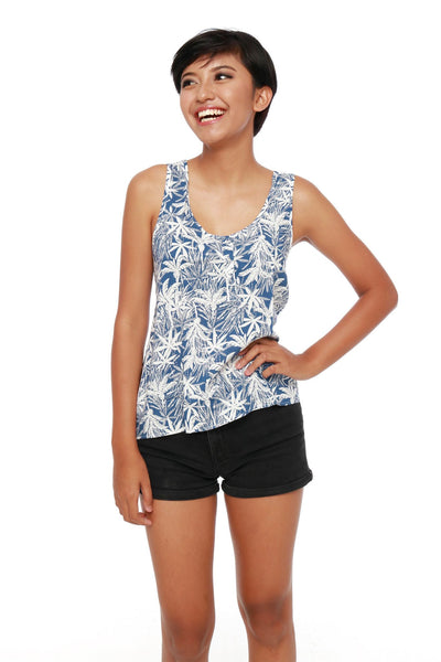 Top - Tank Coconut Blue