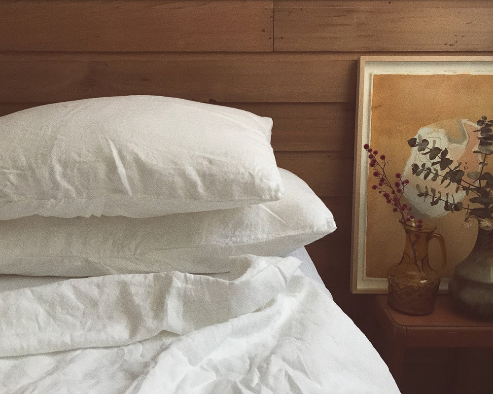 white linen pillowslip set