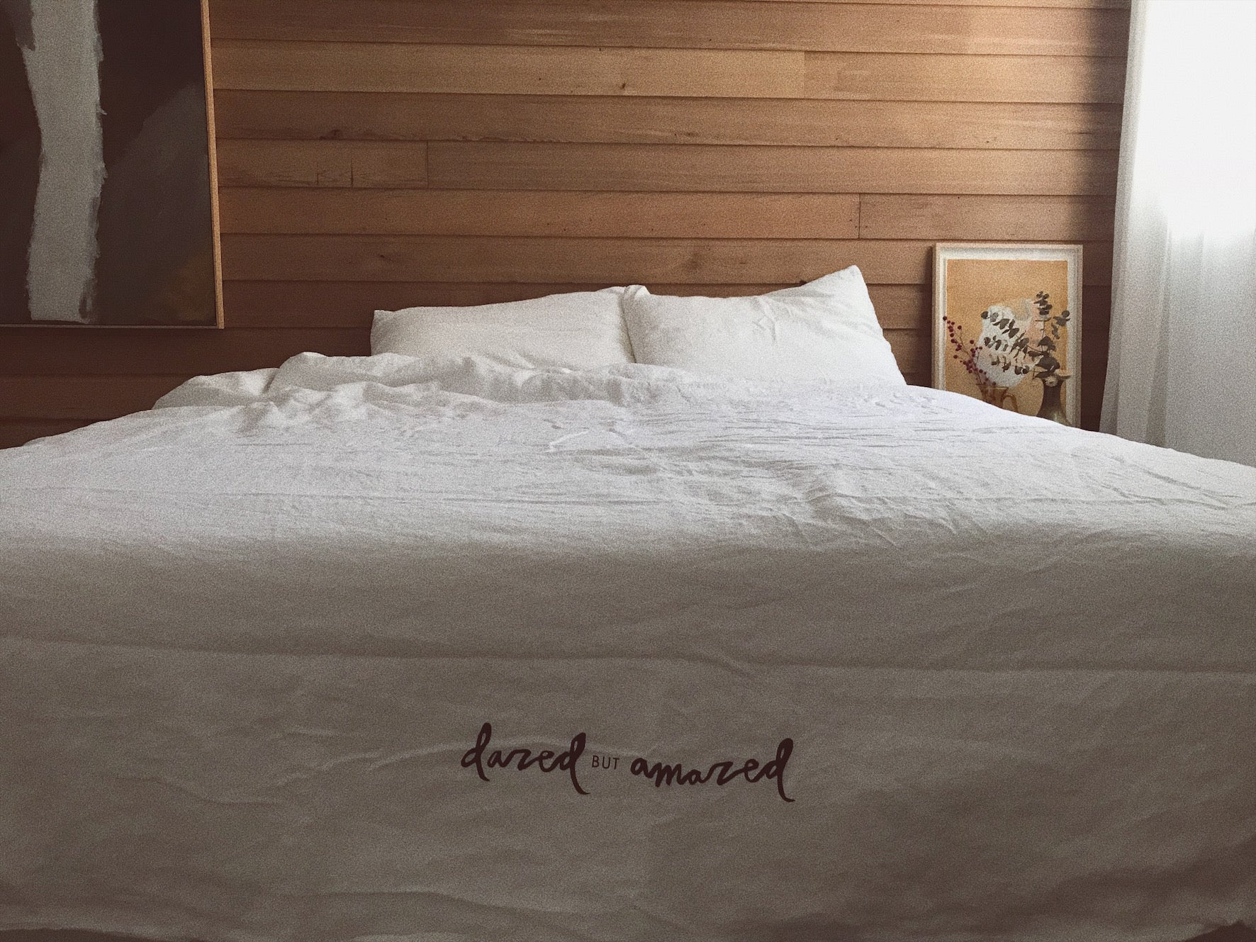 full bed set . white linen