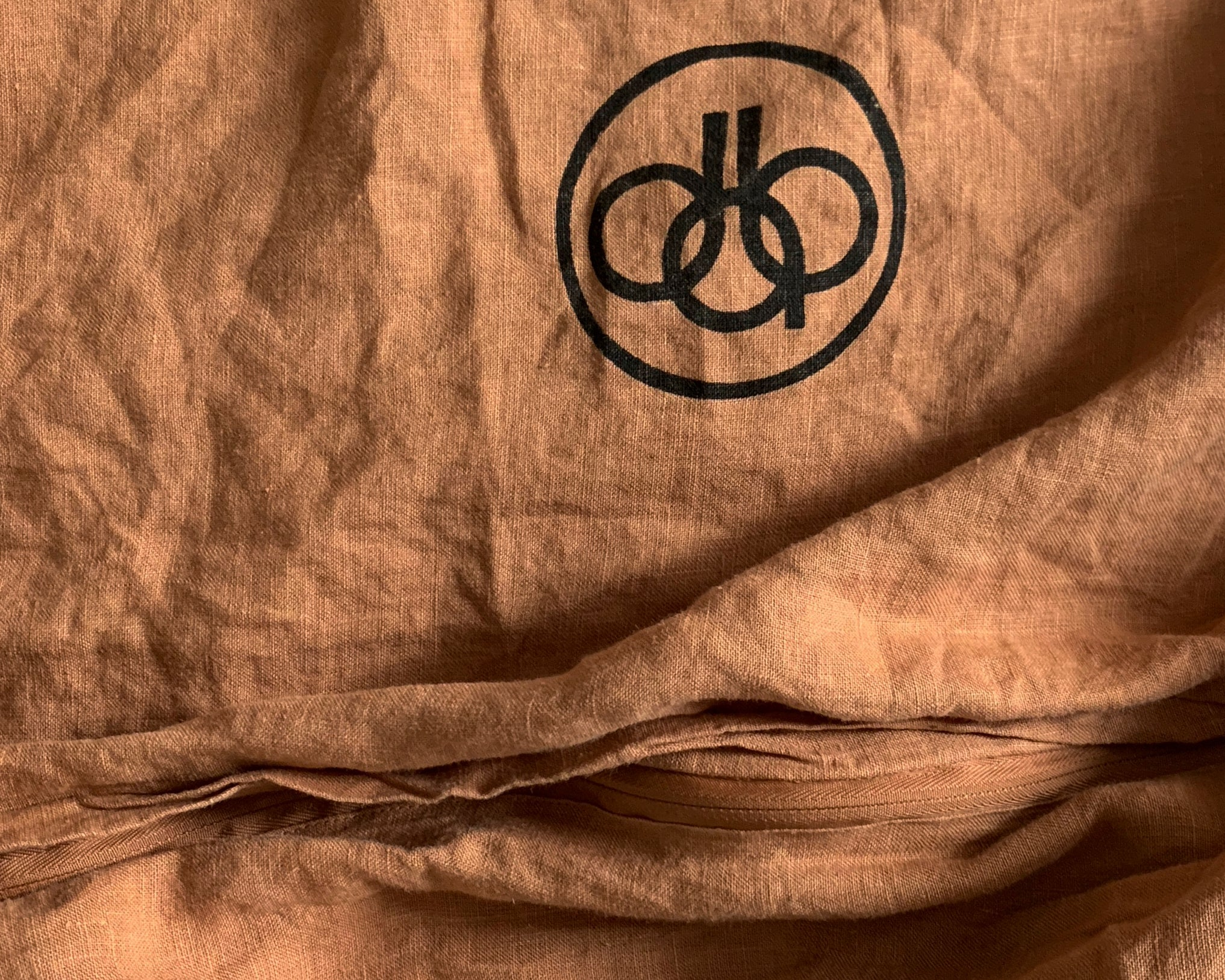 duvet cover . caramel . dba ready dyed linen