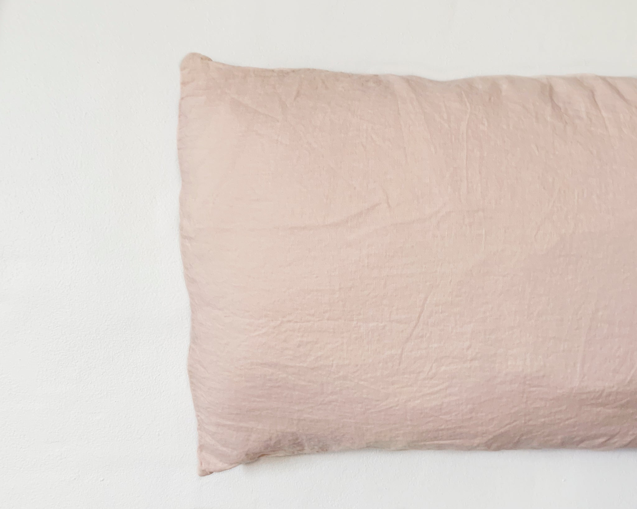 pillowslip set . apricot . dba ready dyed linen