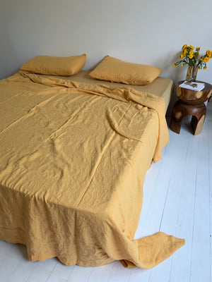 bed cover set . honey . dba ready dyed linen