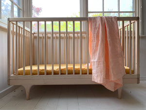 fitted cot . honey . dba ready dyed linen