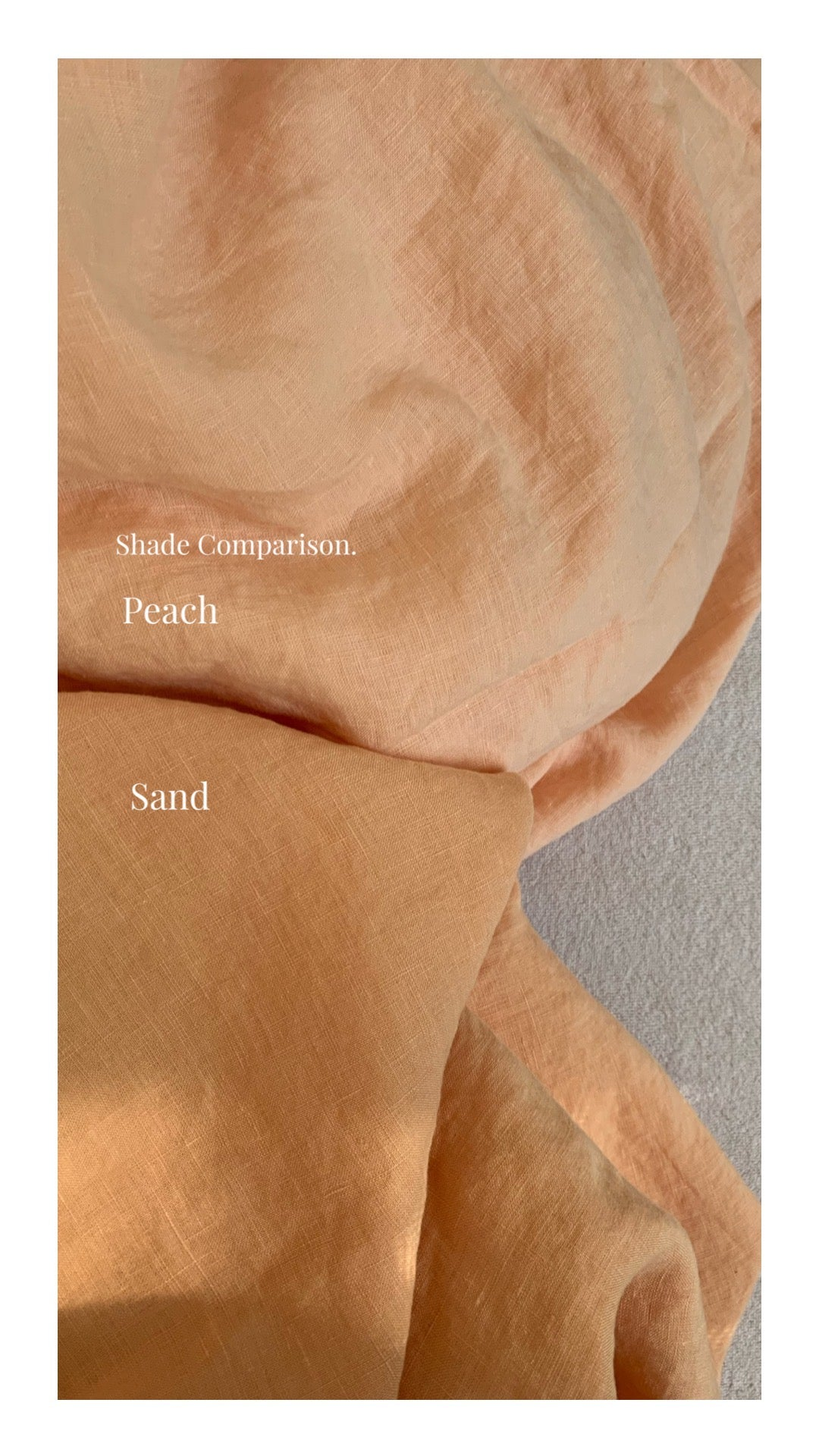 duvet cover . peach . dba ready dyed linen