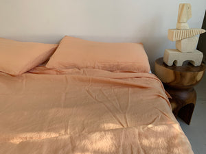 bed cover set . sand . dba ready dyed linen