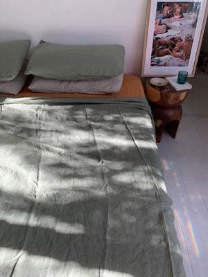 pillowslip set . eucalyptus . dba ready dyed linen
