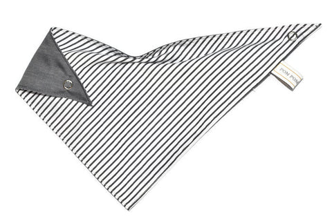 Boy Bandana Bib - Candy Cane Black