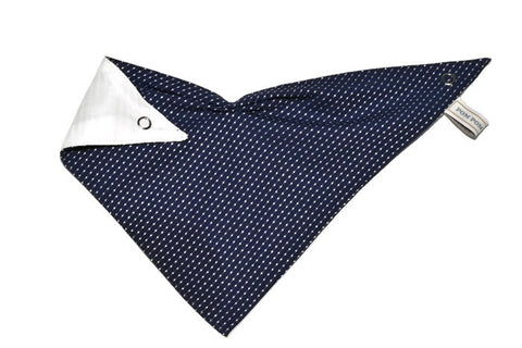 Boy Bandana Bib - Cravate Dot Navy