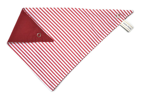 Boy Bandana Bib - Candycane Red