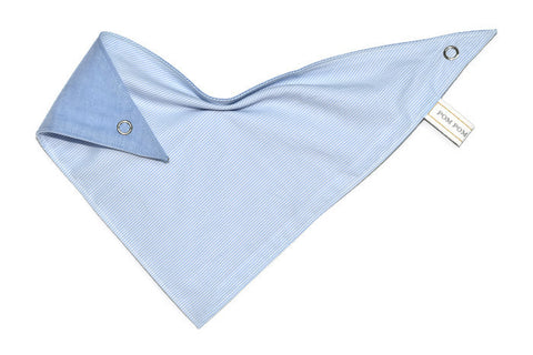 Boy Bandana Bib - Fine Stripe Blue