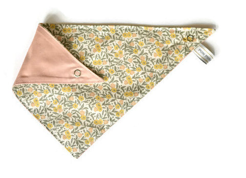 Girl Bandana Bib - Yellow Floral